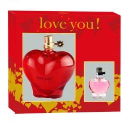 COFFRET EAU DE PARFUM LOVE YOU RED