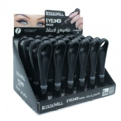 LEATICIA WELL EYELINER FINGER BLACK GRAPHIC