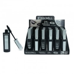 MASCARA 24H SUPER BLACK WATERPROOF LETICIA WELL