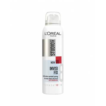 L'OREAL PARIS STUDIO LINE 8 INVISI'FIX LAQUE COIFFANTE FIXATION SUPER FORTE