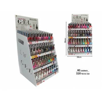 MEUBLE VERNIS GEL INFINITY SHINE 320 PIÈCES 40 COULEURS LETICIA WELL
