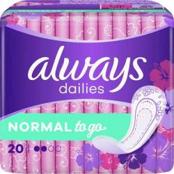 ALWAYS NORMAL TO GO PANTY LINERS