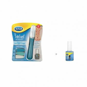 SCHOLL ELECTRONIC NAIL CARE SYSTEM AND OIL