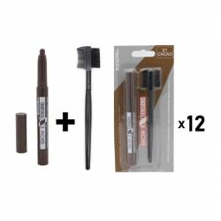 LETICIA WELL CACAO BROW BRUSH & PENCIL