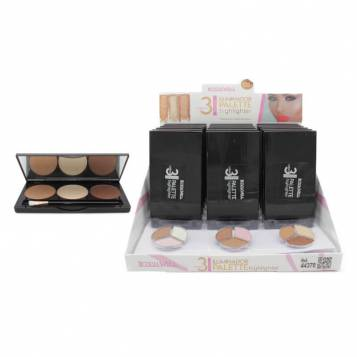 LETICIA WELL 3 COLORS HIGHLIGHTER PALETTE