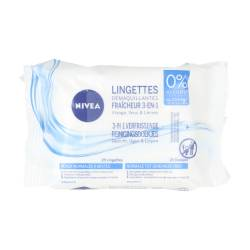 NIVEA FRESHNESS 3-IN-1 CLEANSING WIPES