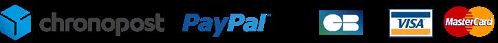 Chronopost - Colissimo - Paypal - Paiement sécurisé - Carte bleue - Visa - Mastercard